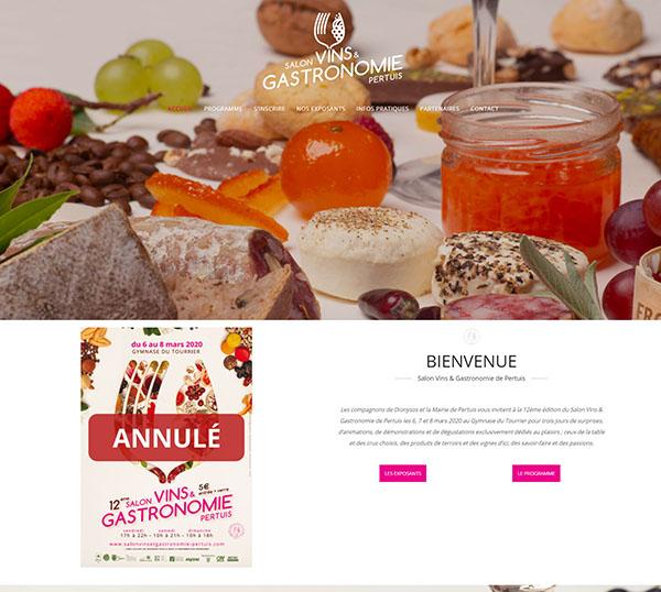 Salon Vins et Gastronomie - site WordPress - SEO - gestion des réseaux sociaux
