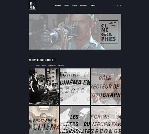 Cinégraphies - Site WordPress- SEO - charte graphique