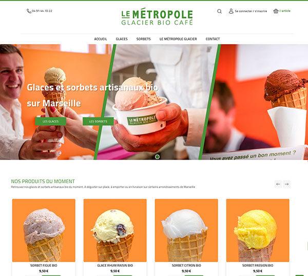 Boutique en ligne Prestashop - Le Métropole Glacier - Glaces Bio Marseille