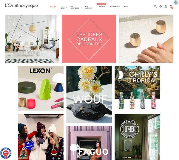 L'Ornithorynque - Boutique en ligne sous Prestashop - SEO - Identité visuelle