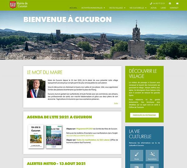Site WordPress - Mairie de Cucuron