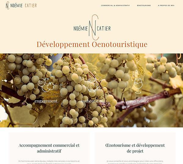 Site WordPress - Oenologie - Noémie catier